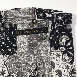 Zara Dresses - Zara sleeveless black and white mini dress small